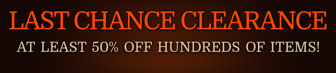 Last Chance Clearance: At Least 50% Off Hundreds of Items!